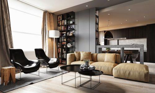Pequenos Espaços: Um Apartamento Arrojado e Compacto